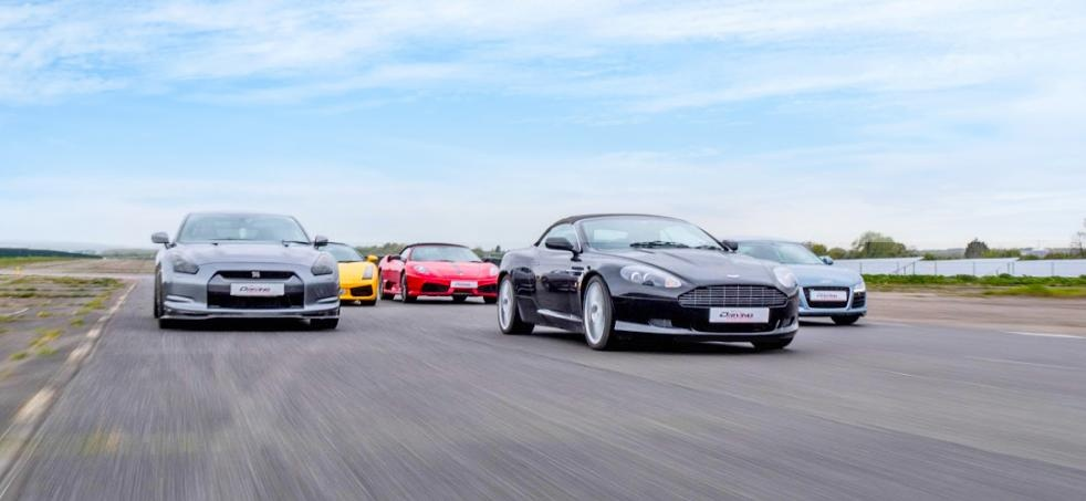 Four Supercar Driving Blast With Hot Lap