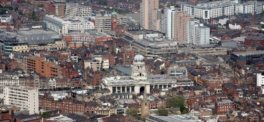Helicopter Flight Tour Of Nottingham