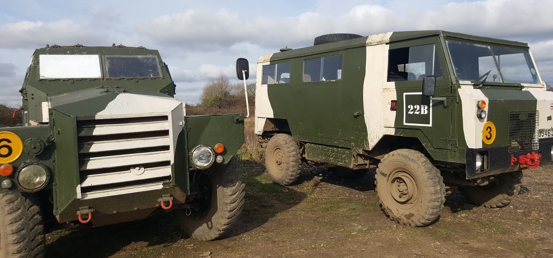 Classic Military Vehicle Driving Day in Dorset-1