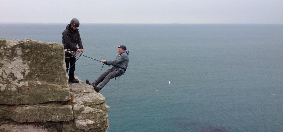 Climbing and Abseiling for Two in Cornwall (Full Day)-1
