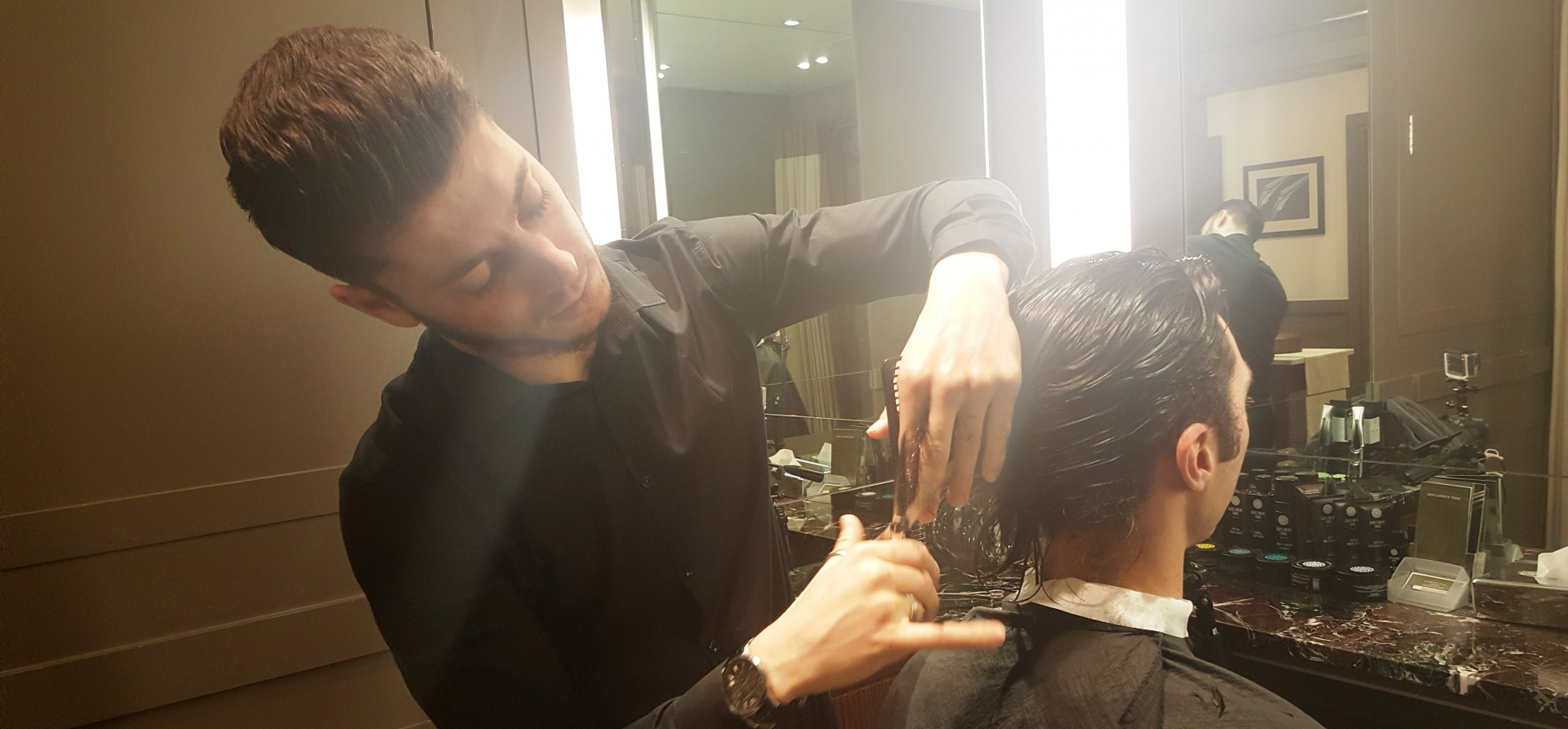 Traditional Men's Wet Shave and Hair Cut in London-1