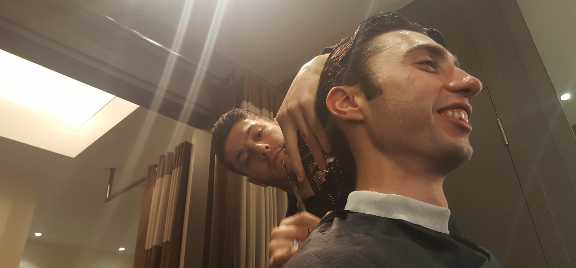 Traditional Men's Wet Shave and Hair Cut in London-10