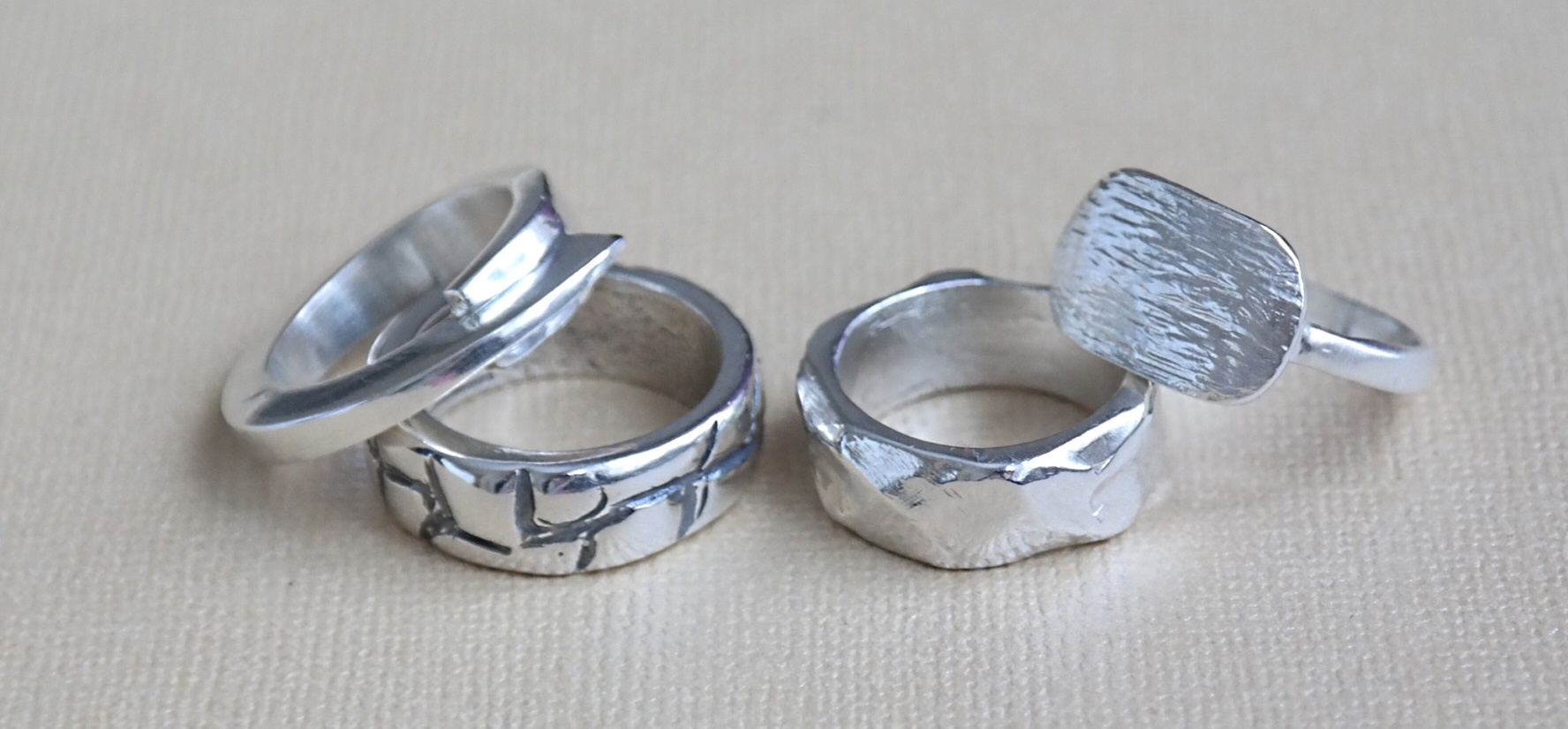 Silver Ring Making Workshop in London-9