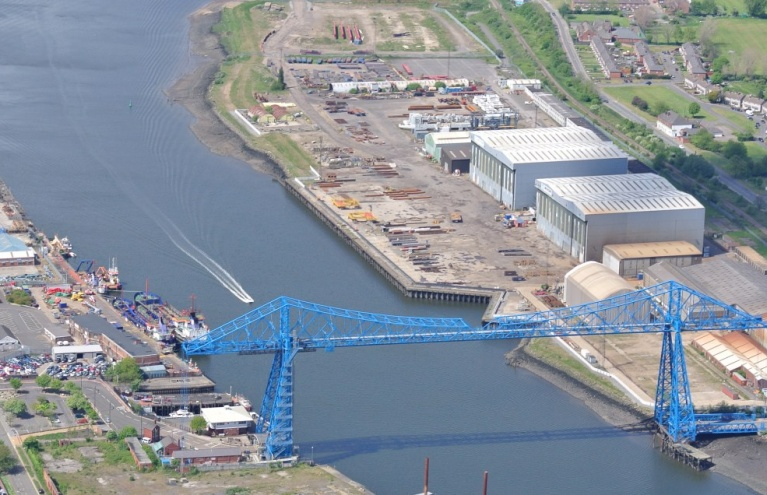 Middlesbrough and the River Tees Pleasure Flight Experience from Durham.JPG