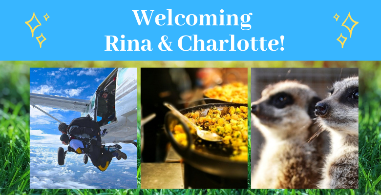 Rina & Charlotte welcome banner intern blog.png