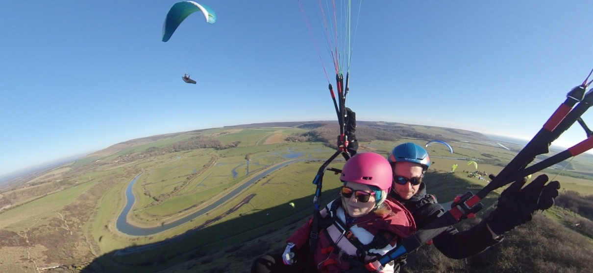 Tandem Paragliding Adventure in East Sussex-12