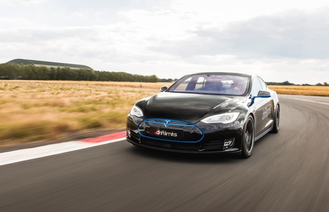 Tesla Black Blue Drift Limits New Experience Gift.jpg