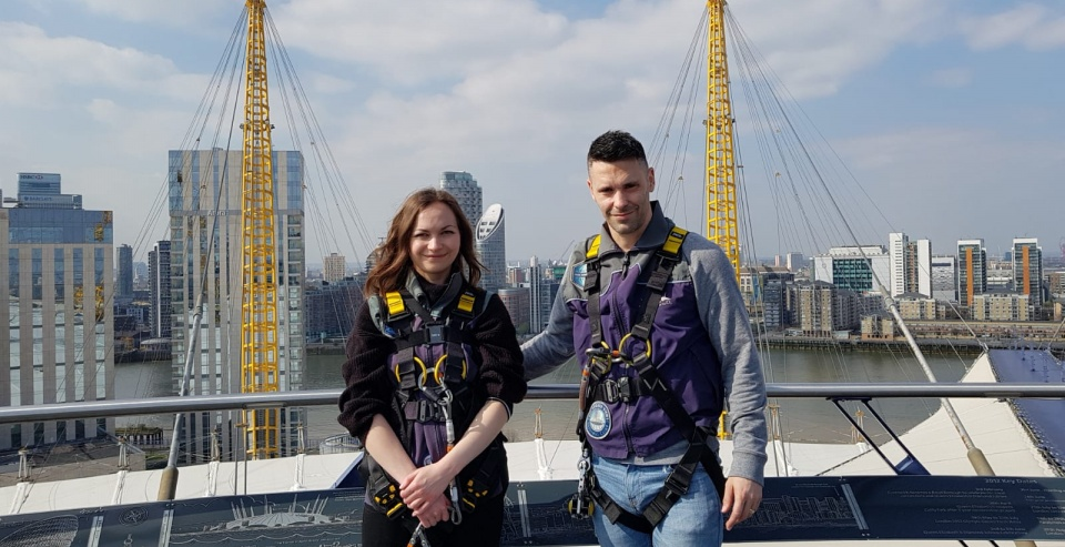 Staff Review Up at The O2 Climbing Experience with 2 Course Meal for 2