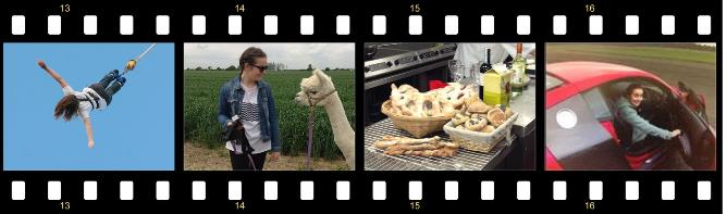 Evie on the Road Film Strip 4