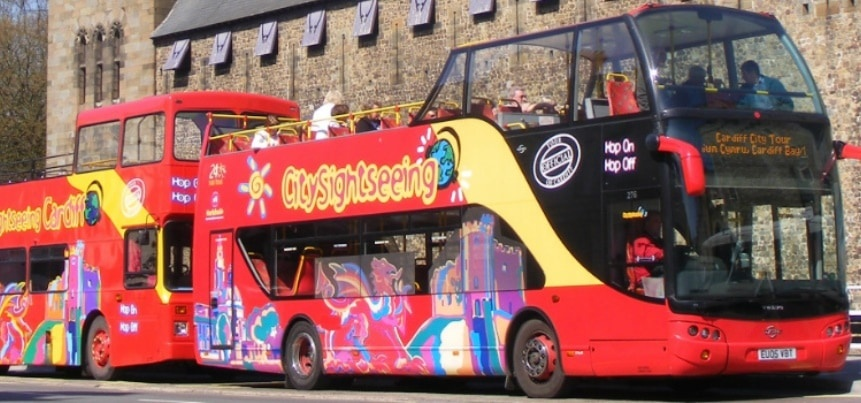 Cardiff Sightseeing Bus Tour For Two