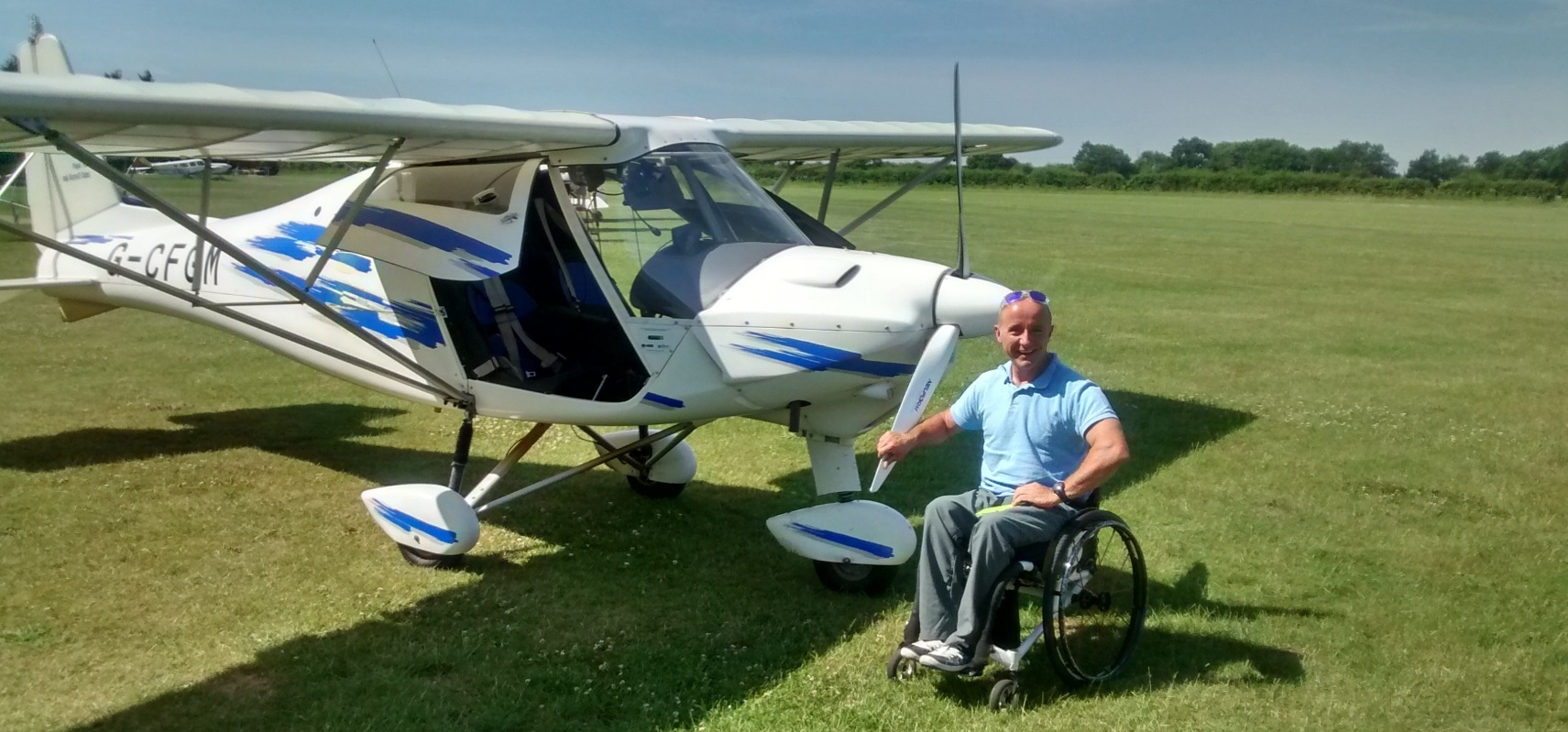 Microlight Flight For Wheelchair Users