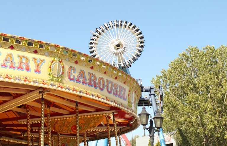 drayton manor theme park for families carousel.JPG