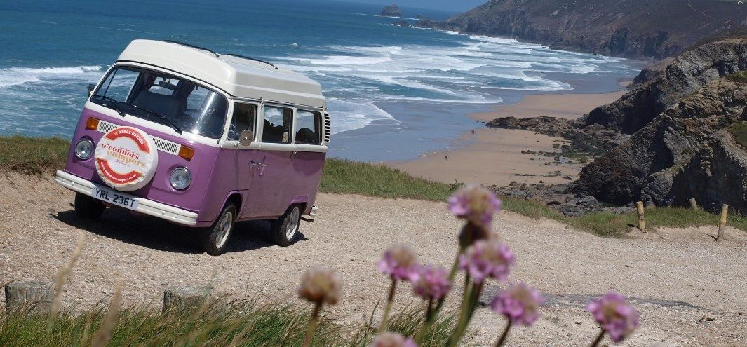 Hire a Camper Van, Surfing Breaks, VW Camper Van
