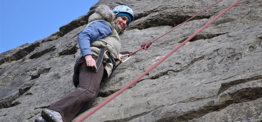 90ft Climb And Abseil Experience Llangollen-2