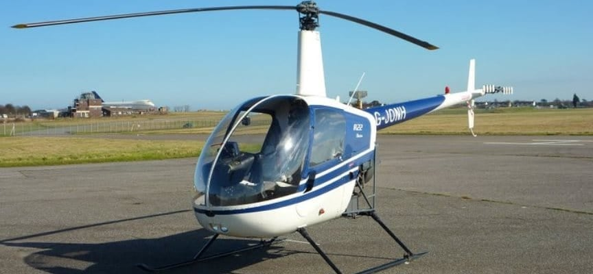60 Minute R22 Helicopter Flying Lesson Kent-3