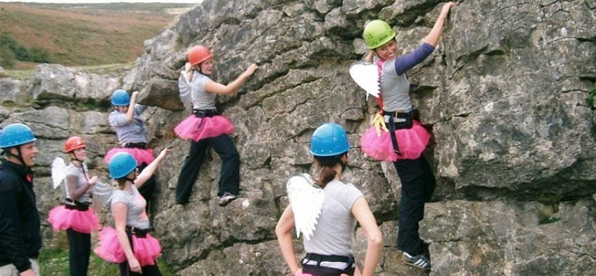 90ft Climb And Abseil Experience Llangollen-3