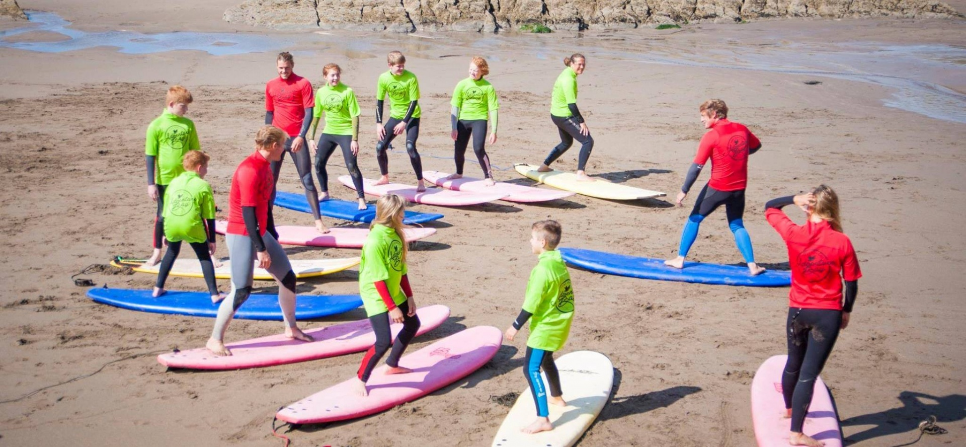 Family Surfing Lessons In Cornwall