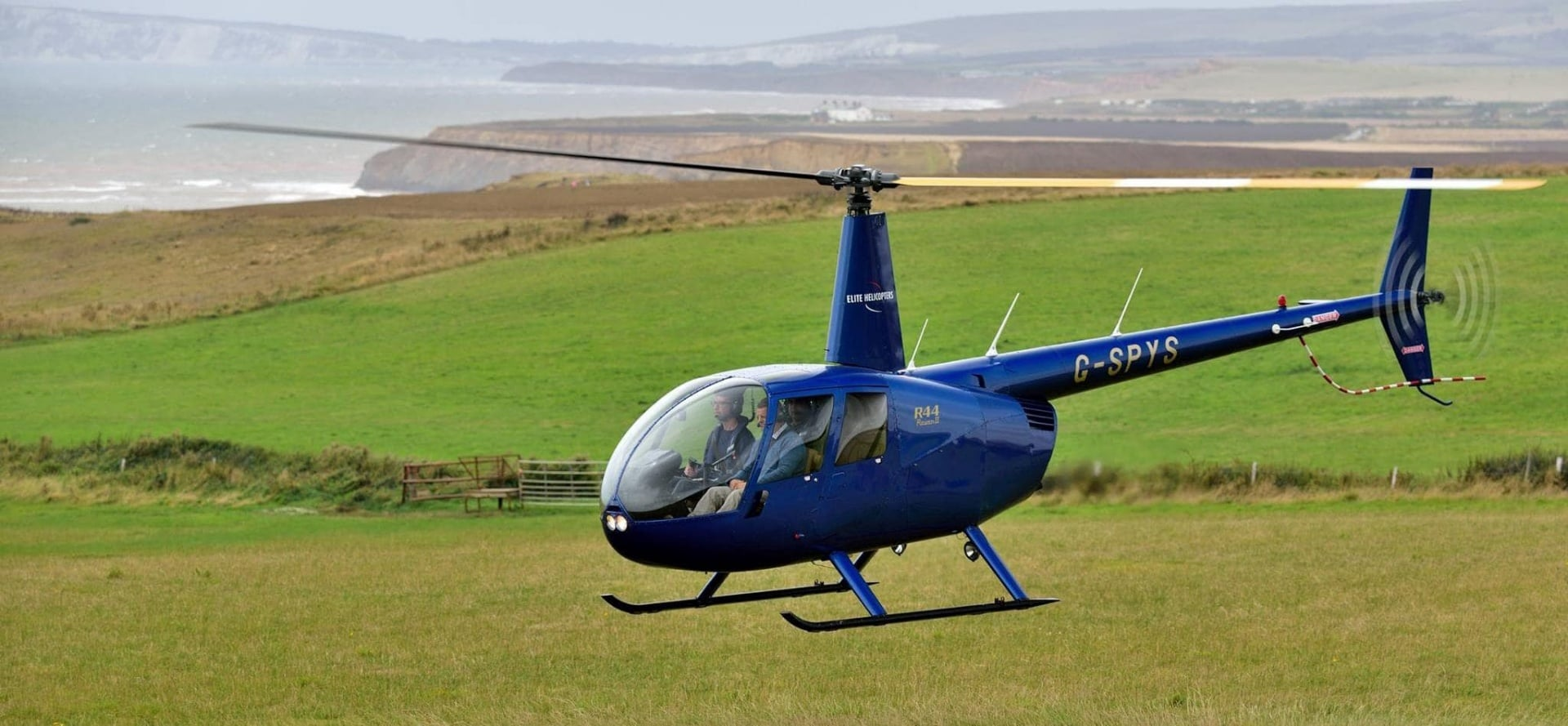 One Hour Trial Helicopter Lesson in a R44 in Sussex-3